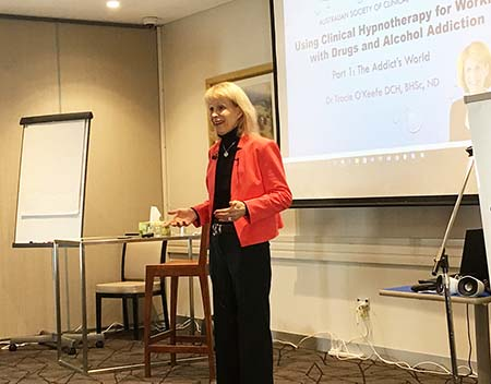 Tracie O'Keefe hypnotherapy for addiction for Australian Society of Clinical Hypnotherapists