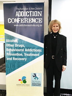 Tracie O'Keefe at the Australian and New Zealand Addiction Conference May 2017